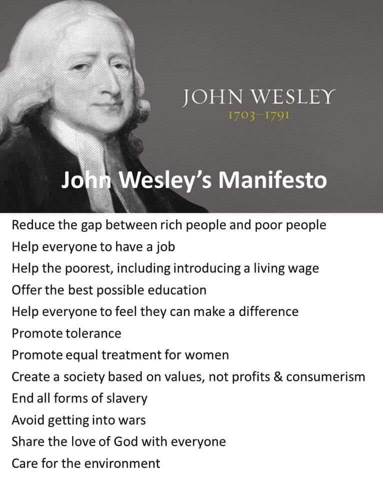 John Wesley's Manifesto