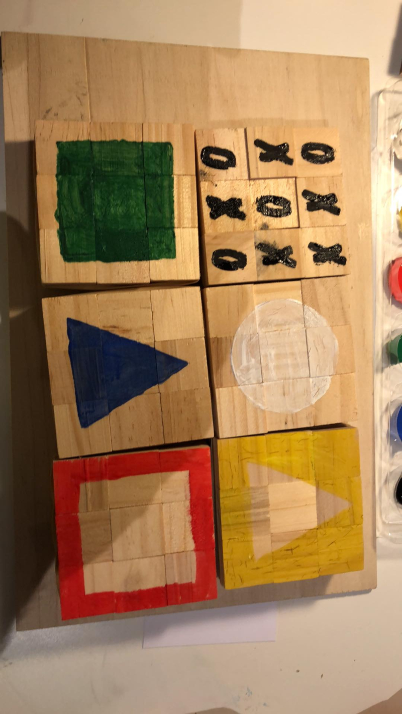Wood puzzel Blocks