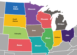 Midwest map